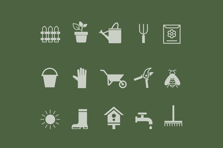 Thumbnail for 15 Gardening Icons