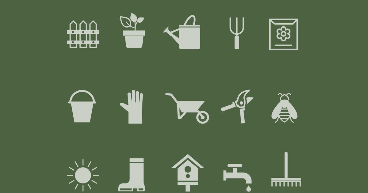Download 15 Gardening Icons by creativevip