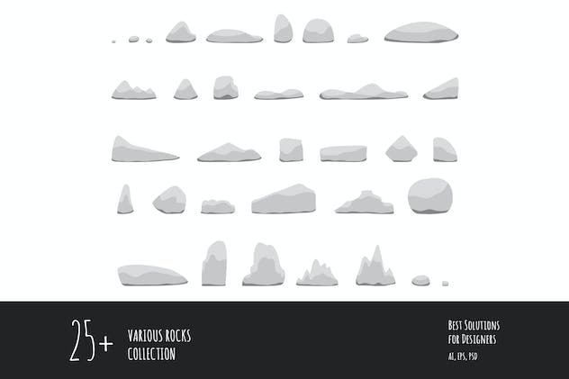 25 Various rocks collection