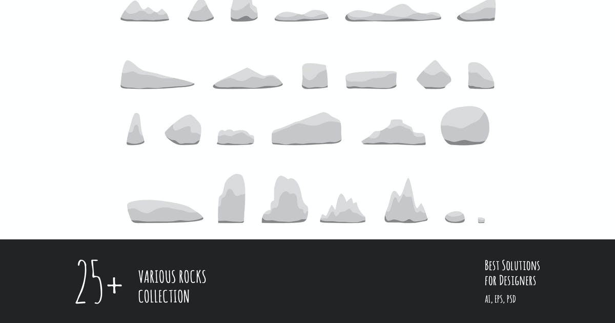 Download 25 Various rocks collection by YummyDs