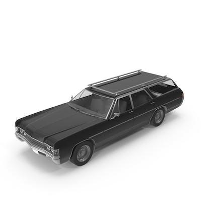 Винтажный автомобиль черный