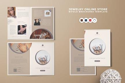 Jewelry Online Shop Bi-Fold Brochure