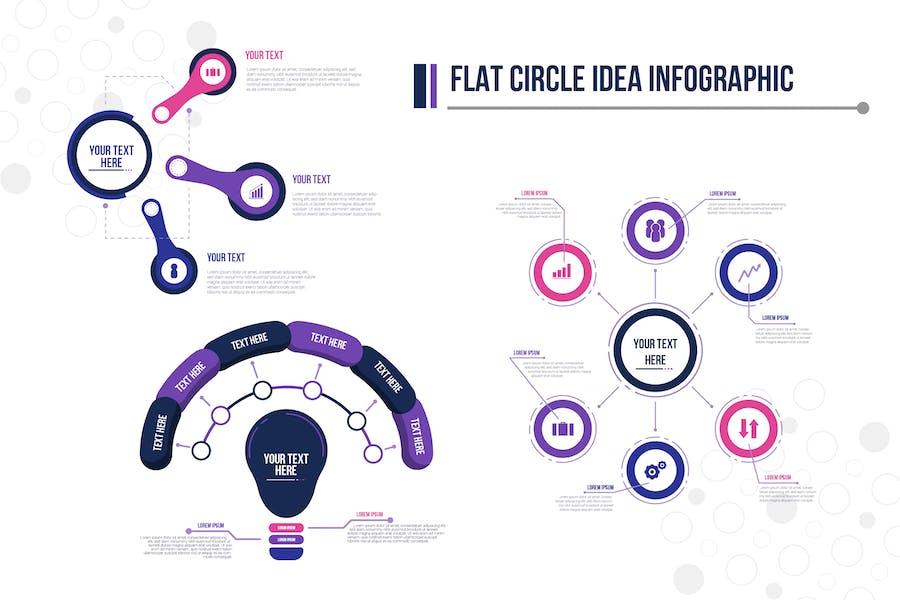 Flat Circle Idea Infographic