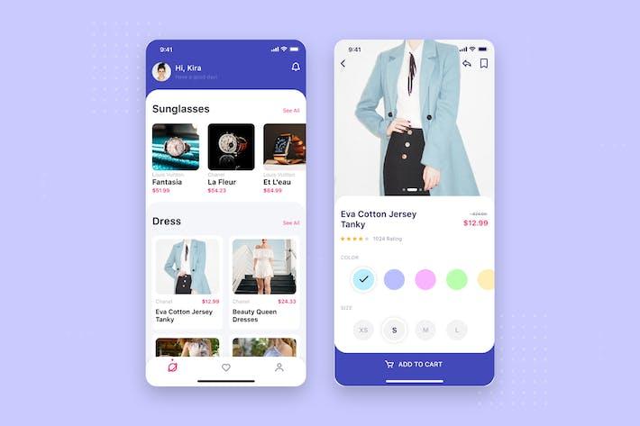Thumbnail for Shopping App mobile UI Concept