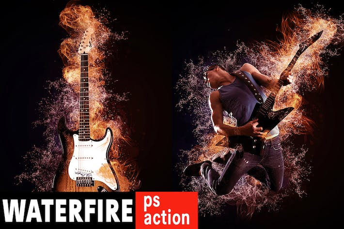 Thumbnail for Waterfire Photoshop Action