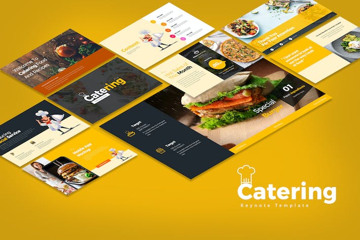 Catering Keynote Templates