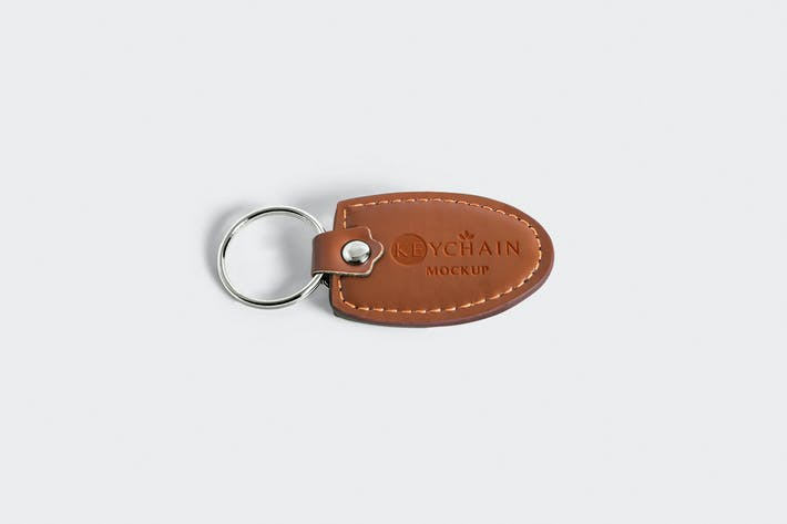 Thumbnail for Leather Keychain Branding Mockups