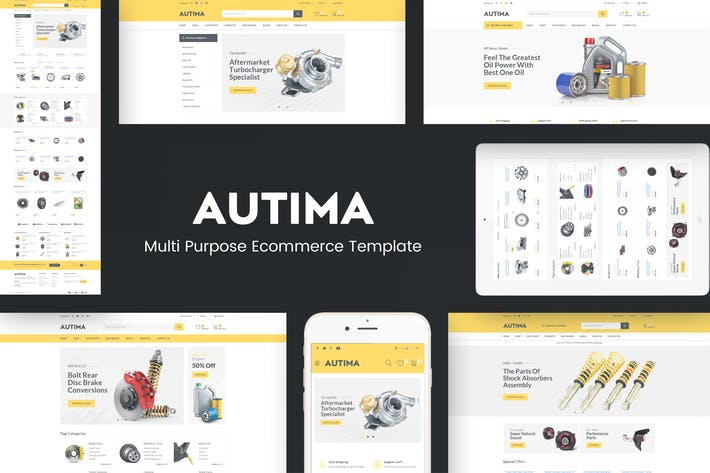 Thumbnail for Autima - Car Accessories Theme for WordPress