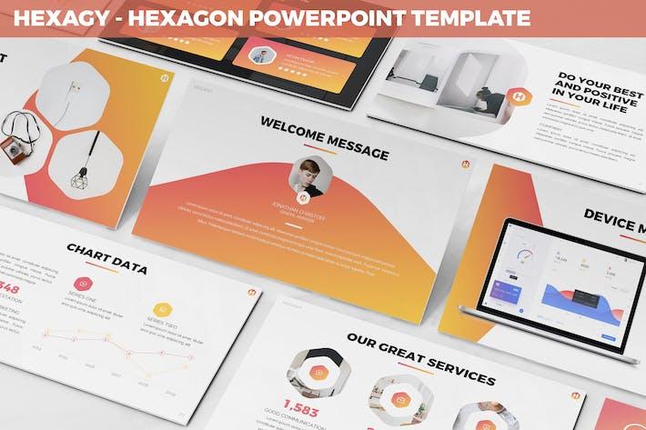Thumbnail for Hexagy - Hexagon Style Powerpoint Template