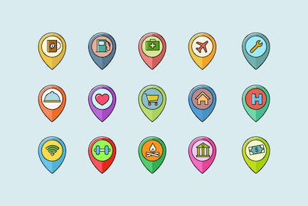 15 Location Pin Icons