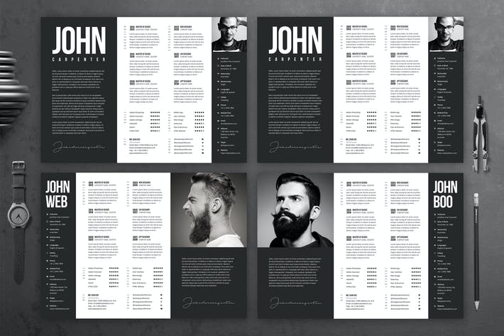 Thumbnail for Minimal Black and White CV Template 52