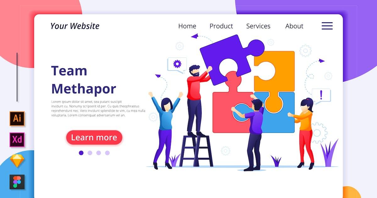 Download Team Work Illustration - Agnytemp by GranzCreative