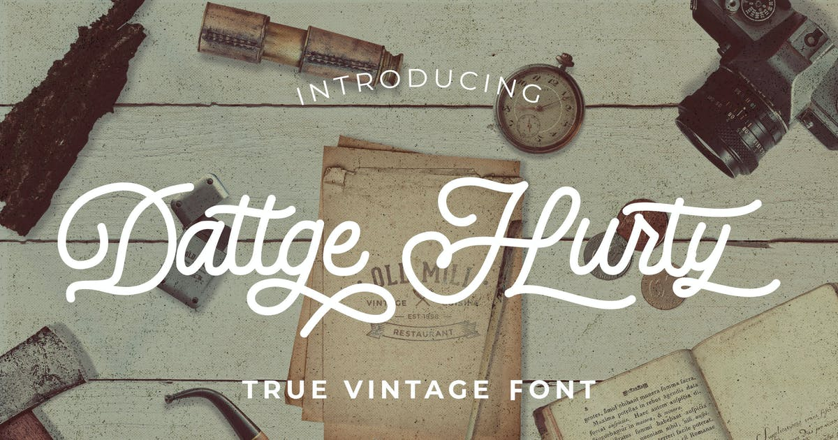Download Dattge Hurty - Monoline Retro Font by StringLabs