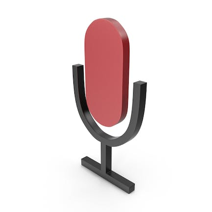 Microphone Black and Red Icon