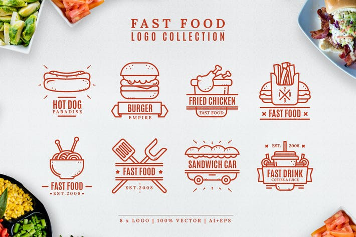 Cover Image For Fast food logo collection