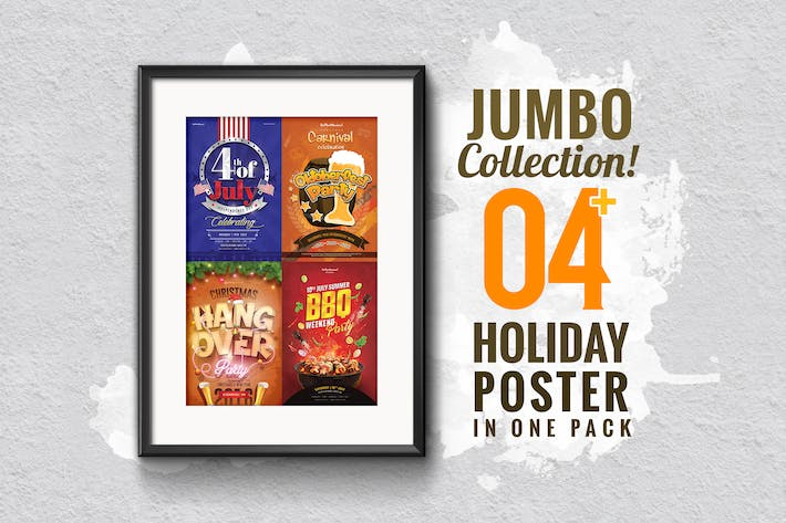 Thumbnail for Jumbo Holiday Poster Collection 4 in 1