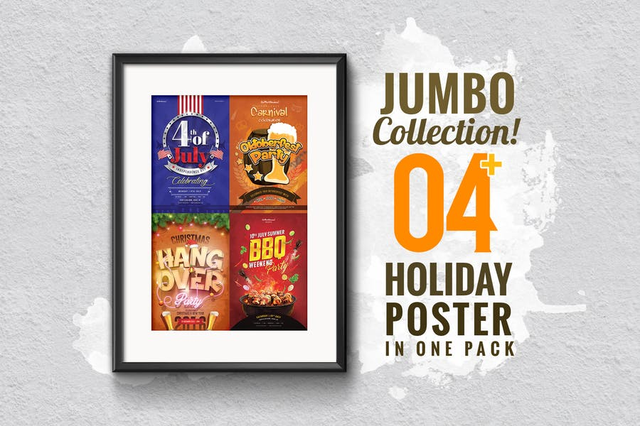 Jumbo Holiday Poster Collection 4 in 1