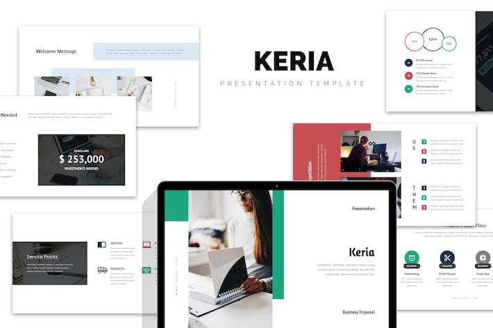 Thumbnail for Keria : Business Plan Keynote Template