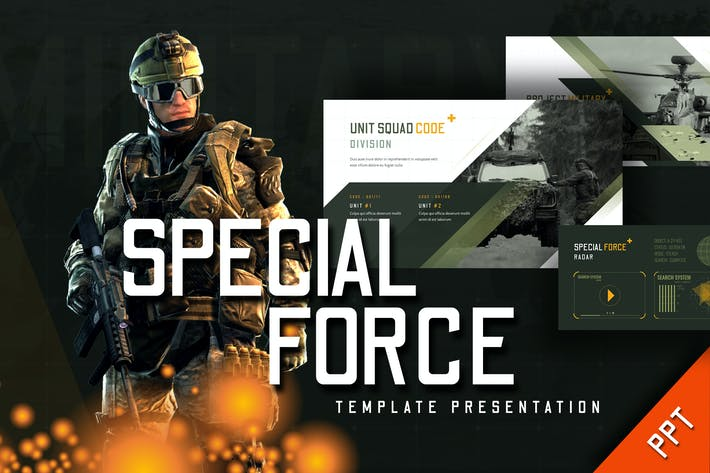 Thumbnail for Special Force - Powerpoint Template