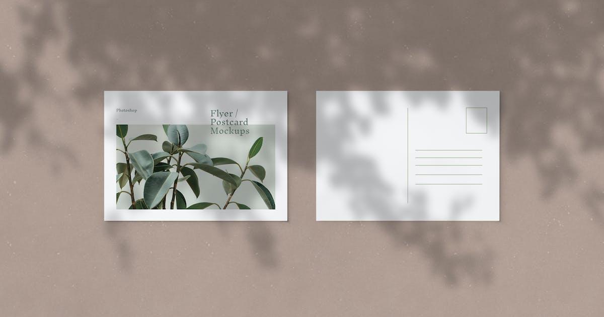 Download Flyer / Postcard Mockups by artimasa_studio