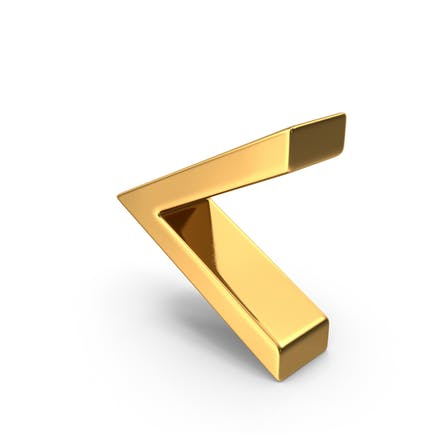 Gold Angle Bracket Symbol