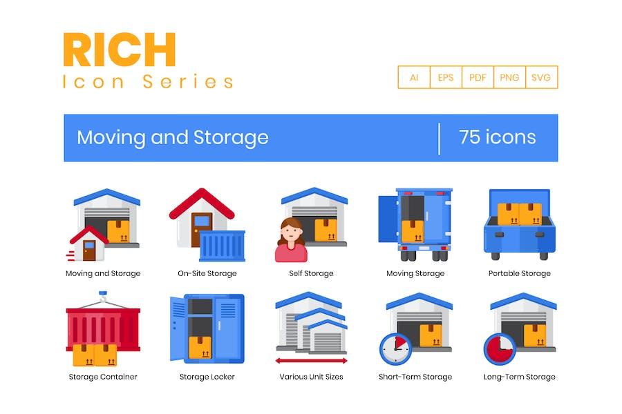 75 Moving & Storage Icons