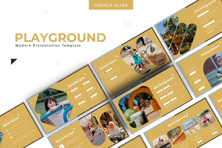 Thumbnail for Playground Template - Google Slides Template