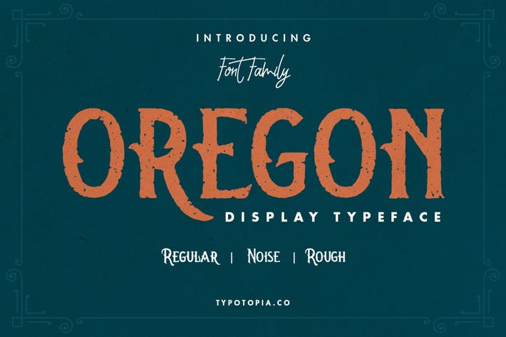 Oregon Vintage Display Font