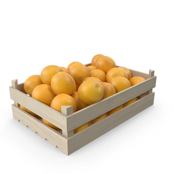 Оранжевый деревянный ящик