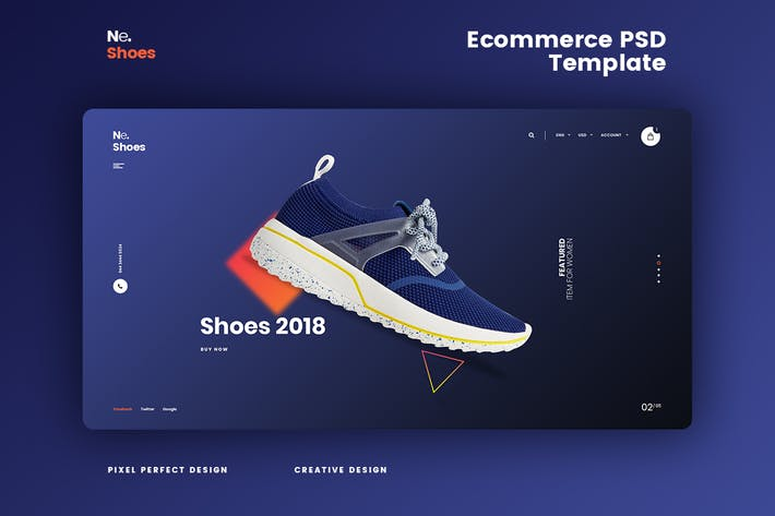 Ne.Shoes - Ecommerce PSD Template