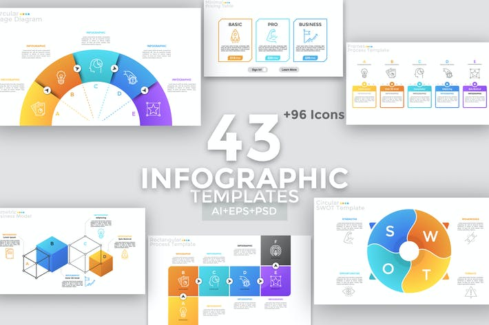Thumbnail for 43 Simple Infographics
