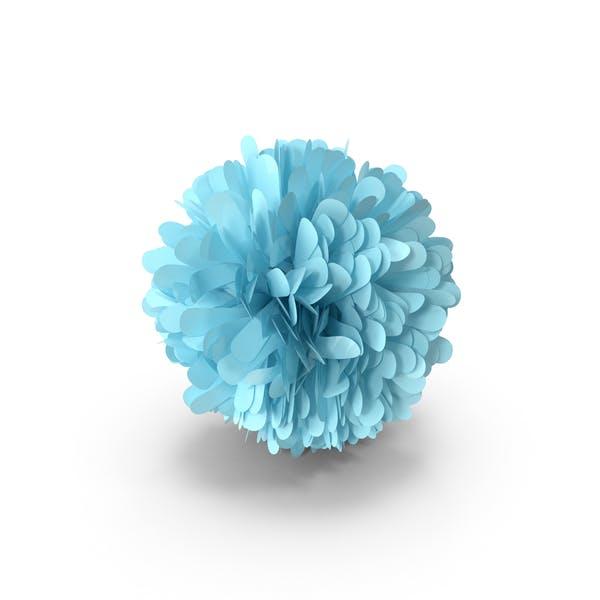 Light Blue Pom Pom