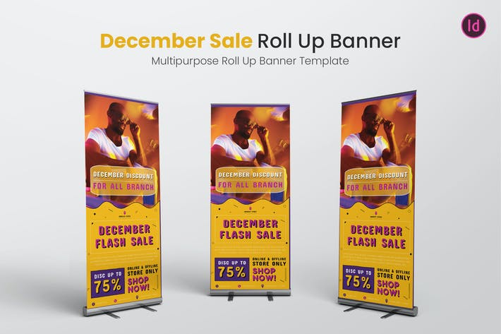 Thumbnail for December Sale Roll Up Banner