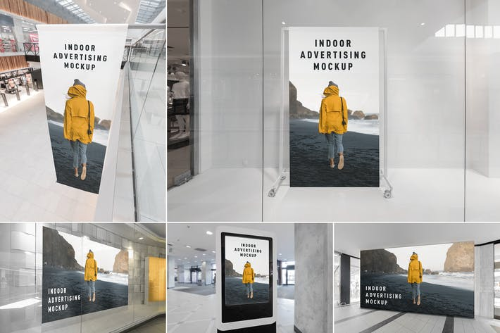 Thumbnail for Indoor Advertising Mockups Vol. 1