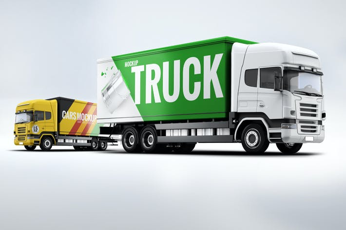 Thumbnail For Cargo Truck Mock Up