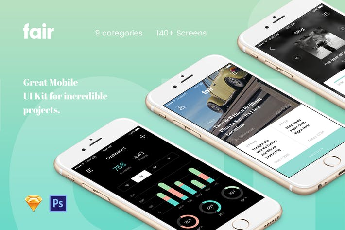 Thumbnail for Fair Mobile UI Kit
