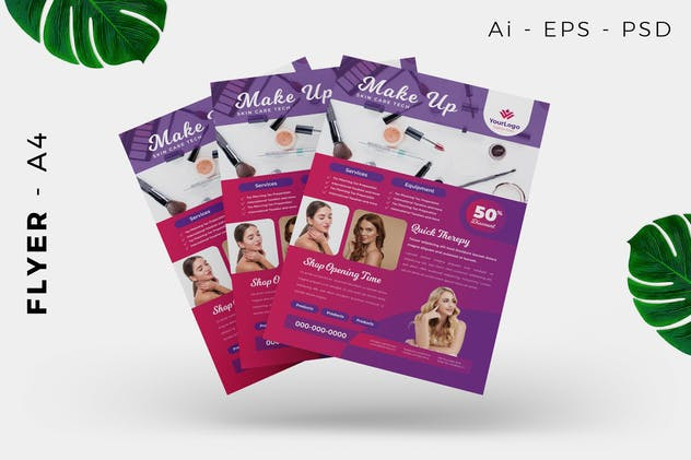 Make up / Skin care Flyer - product preview 3