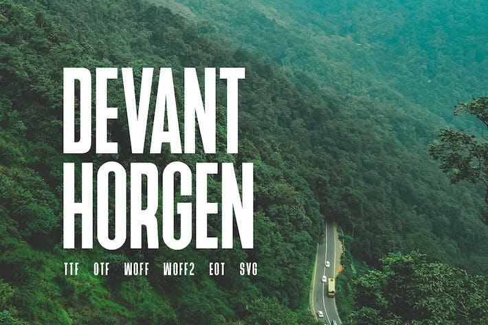 Thumbnail for Devant Horgen - Modern Typeface + WebFont