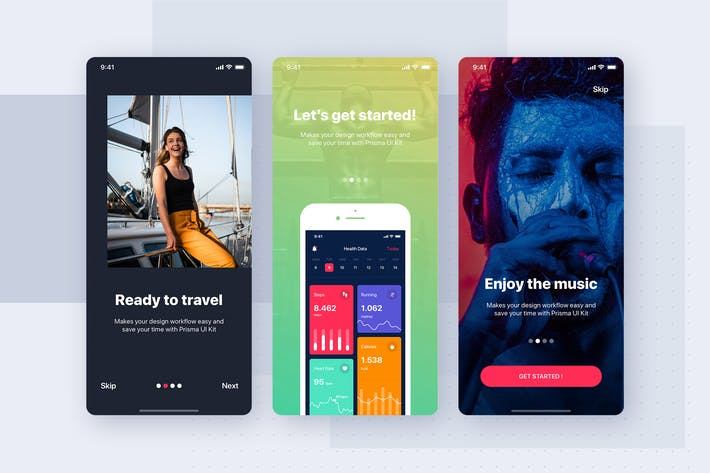 Thumbnail for Onboarding Mobile Interface Template