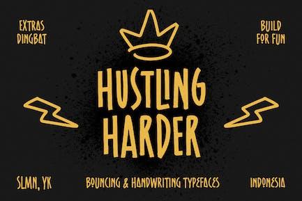 Hustling Harder - Bouncing Font