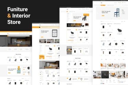 Lisk - Möbel eCommerce Sketch Vorlage