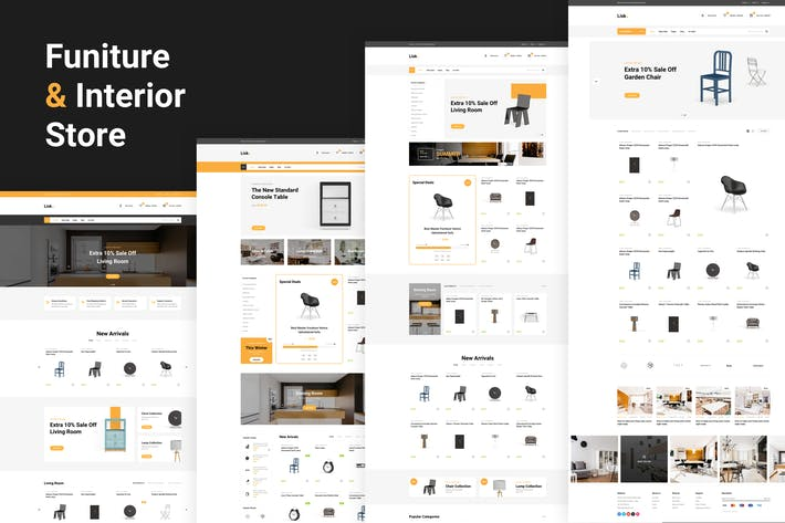 Thumbnail for Lisk - Furniture eCommerce Sketch Template