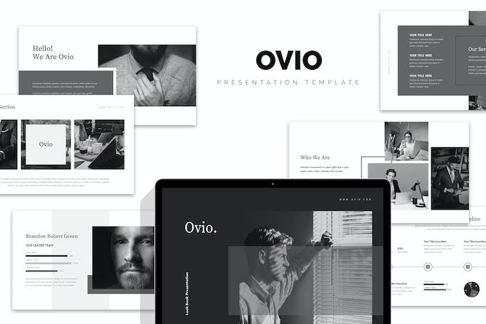 Thumbnail for Ovio: Монохромный стиль Google слайды Шаблон
