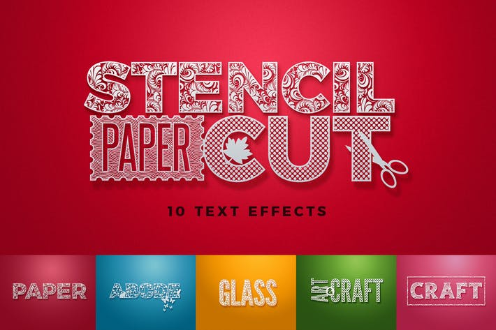 Thumbnail for Paper Cut / Stencil Cut Text Effect