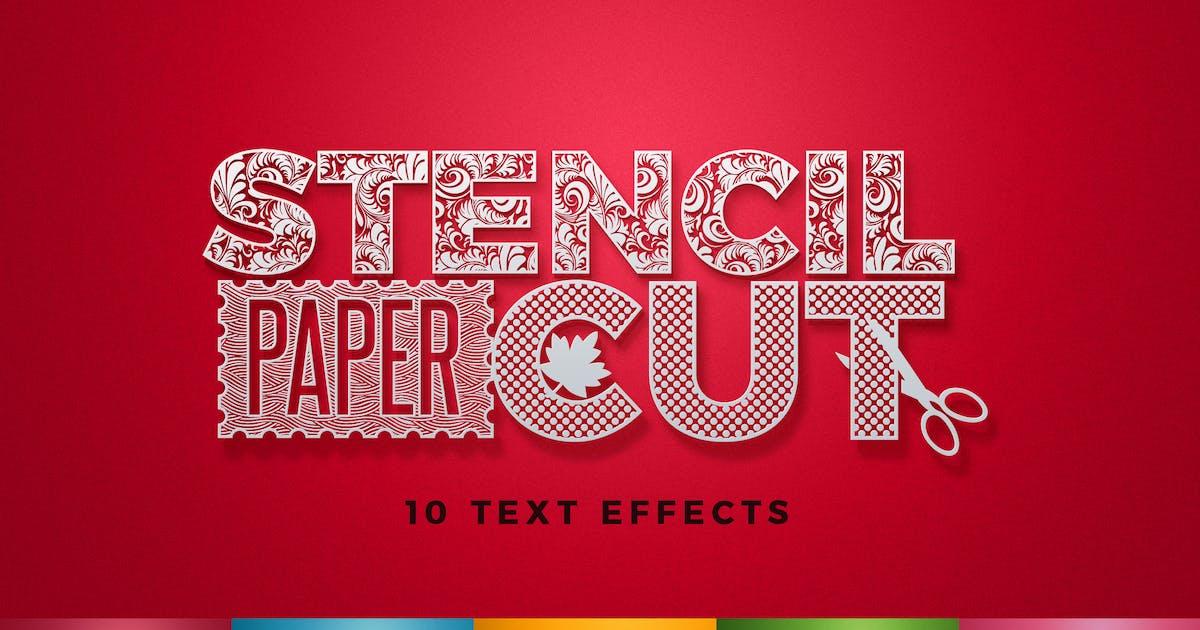 Download Paper Cut / Stencil Cut Text Effect by creativeartx
