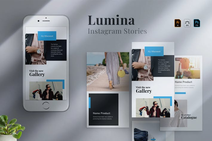 Thumbnail for Lumina - Instagram stories Template 09