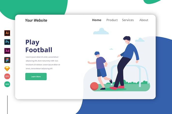 Thumbnail for Page d'accueil Jouer au Football