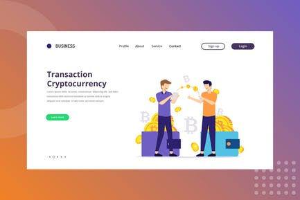 Transaction Cryptocurrency Landing Page