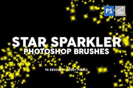 90 Star Sparkler Photoshop Stamp Brushes