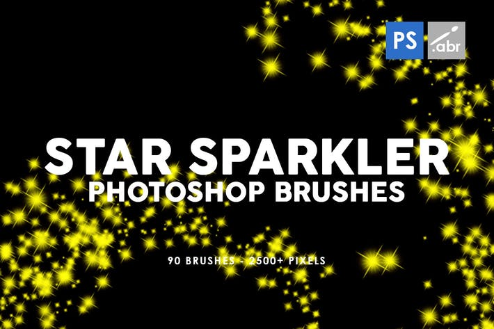 Thumbnail for 90 Star Sparkler Photoshop Stamp Brushes